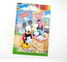 Disney Mickey Mouse Minnie Coloring Book Kids Gifts 13.5x20cm 16 Page w/Sticker