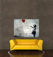 POSTER PRINT PAINTING GRAFFITI BANKSY BALLOON GIRL LOVE HEART LOST CHILD SEB120