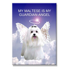 MALTESE Guardian Angel FRIDGE MAGNET New DOG Pet Loss
