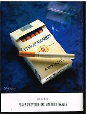 Publicité Advertising 1992 Les Cigarettes Philip Morris