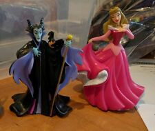 Disney Sleeping Beauty Princess Aurora + Villains Maleficent PVC Figures