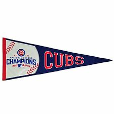 2016 CHICAGO CUBS NATIONAL LEAGUE CHAMPIONS PENNANT BAEZ BRYANT RIZZO LIMITED