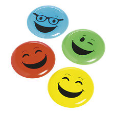 12 EMOJI ICONS face emoticon flying disc frisbees birthday toys Party Favors