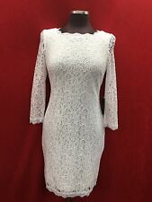 ADRIANNA PAPELL DRESS/NEW WITH TGA/WHITE/SIZE 14/RETAIL$159/NORDSTORM DRESS