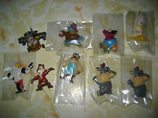 9 Disney Afternoon Collectible Figures Duck Tales, Tale Spin, chip & n dale RARE