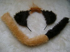 Disney The Lion King - Timon The Meerkat Ears & Tail Set Faux Fur Fancy Dress