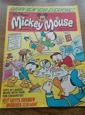 Vtg Walt Disney MICKEY MOUSE Comic No168 6th Jan 1979 MORTY SCAMP New Year Edtn