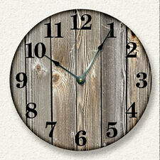 OLD WEATHERED BOARDS Wall Clock - Rustic Cabin Country Wall Home Decor - 7006