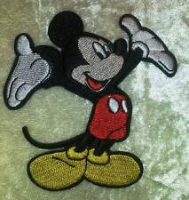 Mickey Mouse Open Arms Iron On Embroidered Patch ~FREE Ship!!
