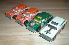 (4) 2001 Hot Wheels '69 Remakes Chevy Nomads Spike Surfboards Noyes Wheels .Com