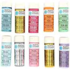 Martha Stewart Crafts Multi-Surface Pearl & Metallic Acrylic Craft Paint Set (2