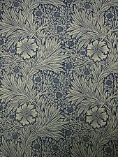 "WILLIAM MORRIS CURTAIN FABRIC ""Marigold"" 1.4 METRES INDIGO & LINEN ARCHIVE PRINT"