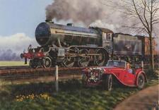 LNER BR K3 2-6-0 MG Car Railway Engine Locomotive Steam Train Birthday Card