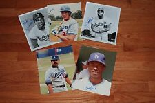 Lot of (5) Different LA Dodgers Signed 8x10 Photos w/Sax, Versalles, Grant