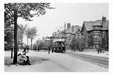 pt6010 - Leicester , Tram on London Road , Leicestershire - photo 6x4