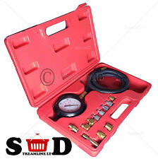 Car Wave Box Oil Pressure Meter Test Kit Gauge Diesel Petrol Garage Tool Tester
