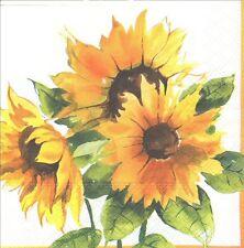 2 Serviettes en papier Fleur Tournesol - Paper Napkins Sunshine