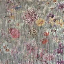 100%SILK  WILD FLOWERS on BLOOMSBURY CRINKLE GEORGETTE