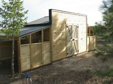 Storage shed/chicken coop framing plan & material list, with 3 loafing sheds