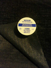 "Fusible iron on  interfacing 60"" wide. Woven fabric. Dry cleanable. Black/white"
