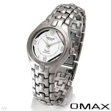 OMAX Men's QUARTZ WATCH / Fully See-Through Dial / SILVER TONE ST/SL BRACELET.