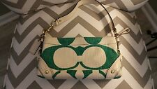 Signature Coach Purse with Teal Design and Leather Trim **from Rodeo Drive**