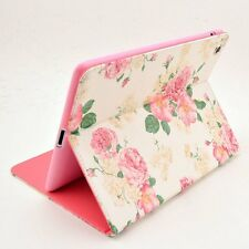 Pink Floral Flower Flip PU Leather TPU Case Cover For IPad 2 3 4 2nd 3rd 4th Gen