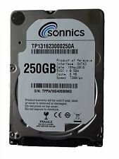 "Sonnics 250GB 2.5"" SATA 6.0Gb/s 7200rpm Internal Hard Drive Factory sealed New"