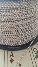Sterling Silver Ball Chain By Foot or Spool Fashion Bead Craft Military Jewelry