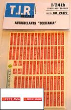 """DECALQUES, DECALS, AUTOCOLLANTS """"OCCITANIA"""". POUR VEHICULES 1/24eme, ACCESSOIRES"""