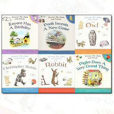 Winnie-the-Pooh and Friends Collection 6 Book Set Owl, Rabbit, Christopher Robin