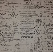 "BALLARD DESIGNS DOCUMENT BROWN FRENCH SCRIPT DESIGNER FABRIC BY THE YARD 55"" W"