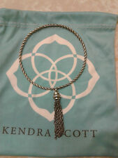 Kendra Scott Antique Silver Reed Fringe Tassel Bangle Bracelet Rare HTF