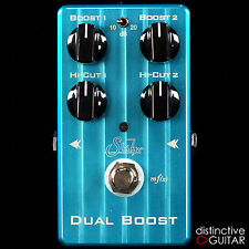 NEW SUHR EFFECTS DUAL BOOST PEDAL - TRANSPARENT CLEAN BOOST & BUFFER W/ HI CUT