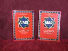 1981 & 1982 Atari Video Computer System Catalogs - Red Covers