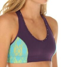 "BODYROCK SPORT ""BARBIE"" PURPLE/TURQUOISE SHOW EM OFF SPORTS BRA SIZE X-Large/XL"