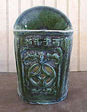 Chinese Old Style Green Chopstick Holder Hang on Wall Vase