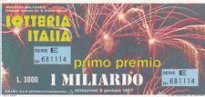 Biglietto lotteria Italia del 1987