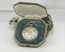 Rare Runs Vintage 1926 ILLINOIS 12s 21j Open Face Large Dial Pocket Watch in Box