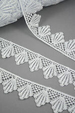 Vintage Style Peacock Tails GUIPURE/VENISE Lace Trim YARD 33 mm / 1,29 inch