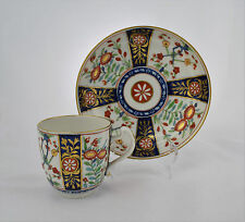 Worcester Waisted Cup & Saucer Queen's Pattern Pinched Handle Flight Period