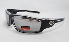 Xloop Sunglasses CLEAR & BLACK Silver Mirror Tint Lens Unisex Men Sport New
