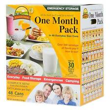 Augason Farms Emergency Food 1-Person 1-Month Canned Food Variety Kit 48 ct