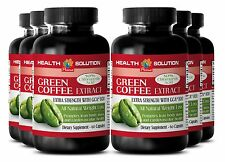 6 Bottles Weight Loss Pills - Fat Burner For Men - GREEN COFFEE EXTRACT GCA® 800