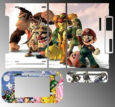 Skin Sticker for Nintendo Wii U Console & Controller 055 Super Smash Bros Brawl