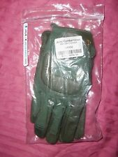 TACTICAL GLOVES LARGE NEW KEVLAR GOATSKIN LEATHER GENUINE USA ACU COMBAT GLOVE h