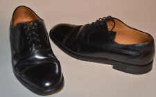 Bally Men's 10D Leather Cap Toe Oxford Dress Shoes Made In Switzerland Black