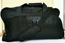 Hugo Boss Parfums Black Duffle Bag Weekender Travel Gym Handbag!
