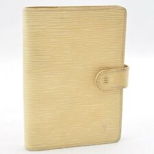 Authentic  Louis Vuitton Epi Agenda PM Day Planner Cover Cream #S927 E