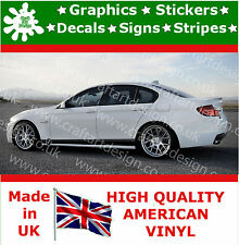 BMW Logo X 2 Large Side Racing Stripe Car Stickers Kit Vinyl Race Car Decals 5